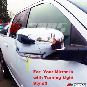 For Dodge Ram 1500 2500 3500 2009 10 11 2012 Chrome Mirror Cover With Turn Light