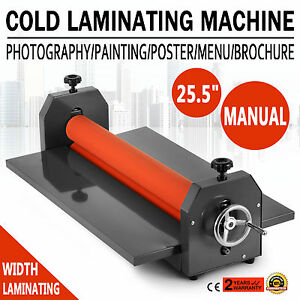 25 5 Laminating Manual Mount Machine Cold Photo Vinyl Film Laminator New