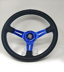 1984 Club Car Ds Blue Steering Wheel Golf Cart With Chrome Adapter