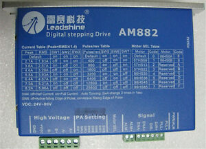 Leadshine Am882 Digital Stepper Motor Drive Controller Dc80v 8 2a Fit Nema23 34