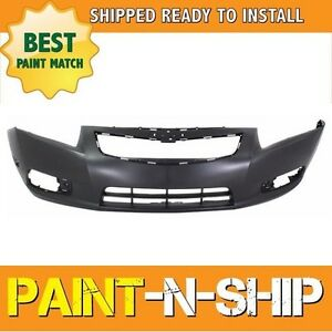 New 2011 2012 2013 2014 Chevy Cruze W O Chme Rs Front Bumper Painted Gm1000924