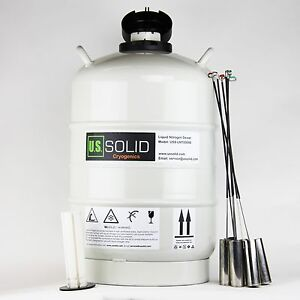 20 L Liquid Nitrogen Tank Ln2 Dewar Cryogenic Container 6 Canisters U s solid