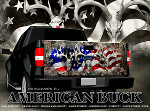 Truck Tailgate Buck Skull Decal Sticker Chevy Dodge Ford Toyota 4x4 Off Road