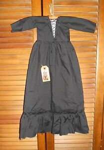 Primitive Wall Dress Halloween Black Witch Folk Art Grungy Decor Cupboard