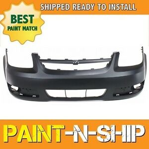 New Fits 2005 2006 2007 Chevy Cobalt W Fog Front Bumper Painted Gm1000734