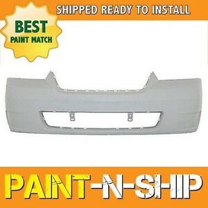 New Fits 2006 2007 2008 Chevy Malibu W Ofog Holes Front Bumper Painted Gm1000767