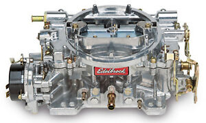 Edelbrock 1403 Performer 500 Cfm Electric Choke Carb Carburettor satin Finish