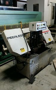 8 x12 Peerless Semi automatic Horizontal Band Saw