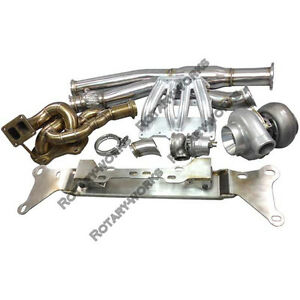 Engine Mount Turbo Manifold Downpipe Kit For Mazda Rx 8 Rx 7 Fd Rew 13b Swap