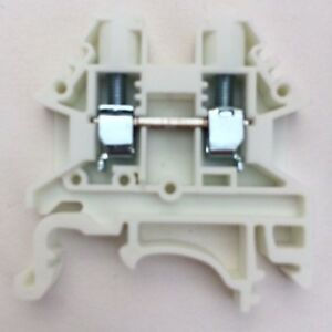 Din Rail Terminal Blocks 100 Quantity Dk4n we White Dinkle 10 Awg Gauge 30a 600v