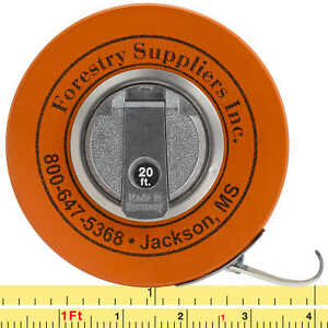 Forestry Suppliers English Fabric Diameter Tape Model 283d 20f