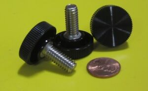 Plastic Black Stainless Thumb Screw 1 Head Dia 5 16 18 X 3 4 Length 10 Pc