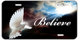 Custom License Plate Into The Light Dove Christian Believe Auto Tag