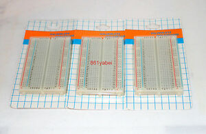 3x 400 Tie Points Contact Solderless Breadboard Bread Board Protoboard Us Base