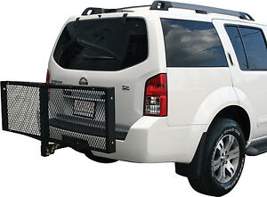 60 Folding Hitch Mount Cargo Carrier Rack Cargo Basket 500lb Capacity Luggage