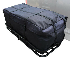 Both 48 Hitch Mount Cargo Carrier Rack With 46 Cargo Bag 500lb Capacity