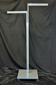 Two 2 Clothing Rack Two Way 2 Straight Arms 2 Clothes Adjustable Retail Display