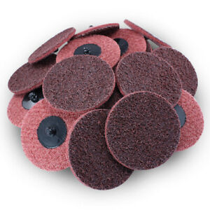 200 Pack 3 Roloc Surface Conditioning Discs Medium Red Quick Change Prep Pads