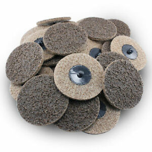 50 Pack 3 Roloc Surface Conditioning Discs Coarse Tan Quick Change Prep Pads