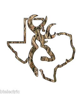Camo Texas Deer Hunting Realtree Decal Window Sticker Vinyl Yeti Browning 5 H
