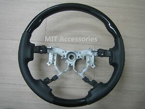 Toyota Tundra 2nd Gen 2007 2013 Black Piano Genuine Leather Steering Wheel
