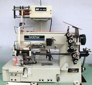 Brother Fd4 b272 Elastic Attaching Coverstitch Industrial Sewing Machine 110v