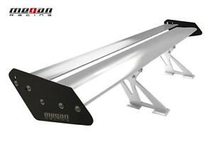 Megan Universal Gt Type Aluminum Spoiler Wing Black And Silver 56 wx10 h