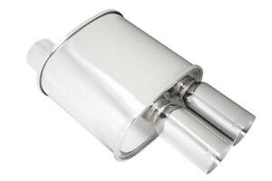 Megan 3 F rt Dual Stainless Roll Tips Universal Turbo Muffler 3 Inlet