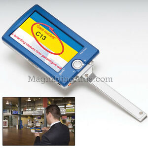 Optelec Compact 4 3 Inch Color Portable Video Magnifier 3 Hrs Of Battery Use