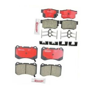 Acura Tl Type S 04 08 Set Of 2 Brembo Front Rear Brake Pads P28059n