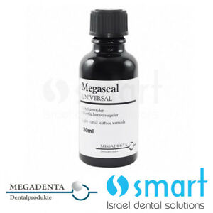 Megaseal Dental Light Cure Sealing Lacquer For Dentures Crown Megadenta Germany