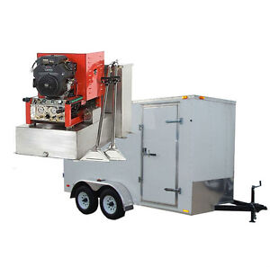 23 5hp Panther Truck Mount Carpet Tile And Air Duct Cleaning Equipment Trailer