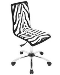 Lumisource Printed Zebra Computer Chair 16 5 x 15 75 x 17 3 39 Ofc tm pzb bk w