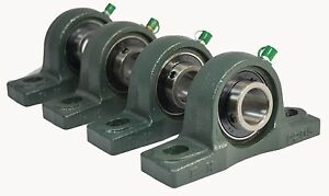 qty 4 Ucp206 20 1 1 4 Solid Base Pillow Block Bearing Unit