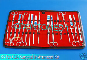83 Pcs O r Surgical Instrument Kit Survival Emergency First Aid Military Case