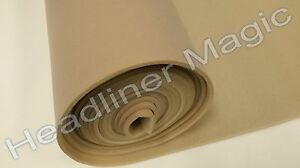 Lt Tan Auto Headliner Fabric 3 16 Foam Back Material 72 X 60 Upholstery