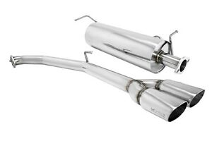 Megan Axle Back Exhaust 2 5 Dual Ss Oval Roll Tips For 11 15 Toyota Sienna Se