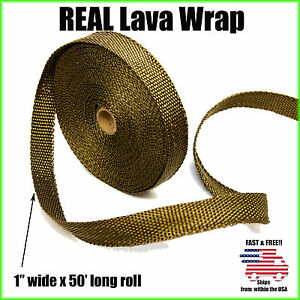 Titanium Motorcycle Exhaust Wrap Header Pipe Heat Insulation Roll 1 X 50 Feet