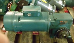 Reliance Electric 3 4 Hp Motor 1725 Hp P56x6201m W Gear Reducer And Disc Brake