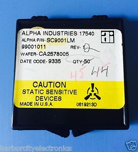 Sc9001lm Alpha Industries Capacitor Chip Rf Microwave Product 45 units Total