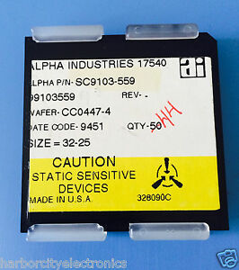 Sc9103 559 Alpha Industries Capacitor Chip Rf Microwave Product 44 units Total