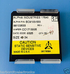 Sc9103 533 Alpha Industries Capacitor Chip Rf Microwave Product 40 units Total