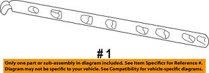 Ford Oem Bed Or Tailgate Top Molding Trim Protector Cap Left Yl3z84291a41aaa