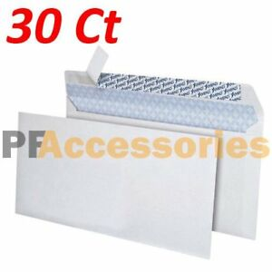 30 Ct White 10 Self seal Security Tinted Letter Envelopes 4 1 8 X 9 1 2 Inch