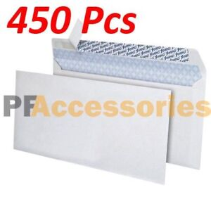 450 Ct White 10 Self seal Security Tinted Letter Envelopes 4 1 8 X 9 1 2 Inch