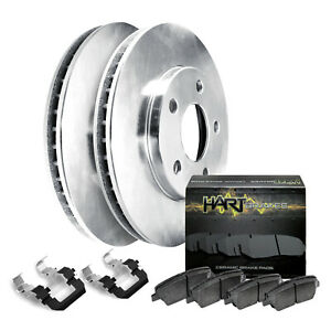 Fit 2002 2004 Honda Odyssey Rear Hartbrakes Blank Brake Rotors ceramic Brake Pad