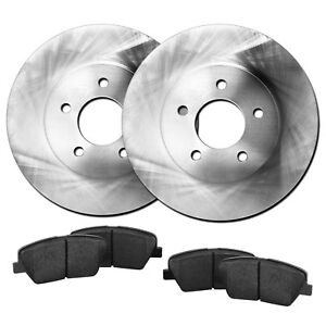 Fits 2007 Chevrolet Cobalt Rear Blank Brake Rotors Ceramic Brake Pads