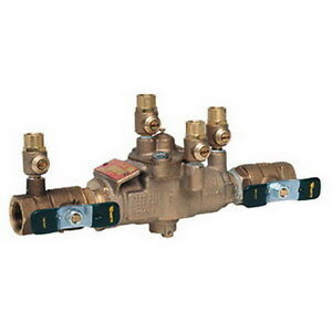 Watts 009 qt s 1 2 Reduced Pressure Zone Assembly W Quarter turn Ball Valves