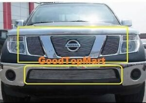 For 2005 2006 2007 Nissan Pathfinder frontier Billet Grille Combo Inserts