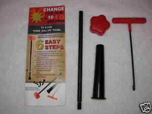 Tire Valve Stem Removal Installation Cheater Tool No Tire Changer Required